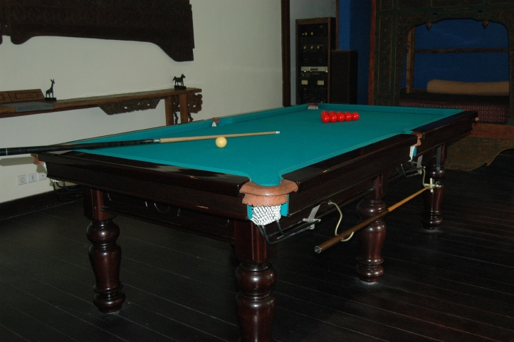 Billiard Room for snooker and pool.